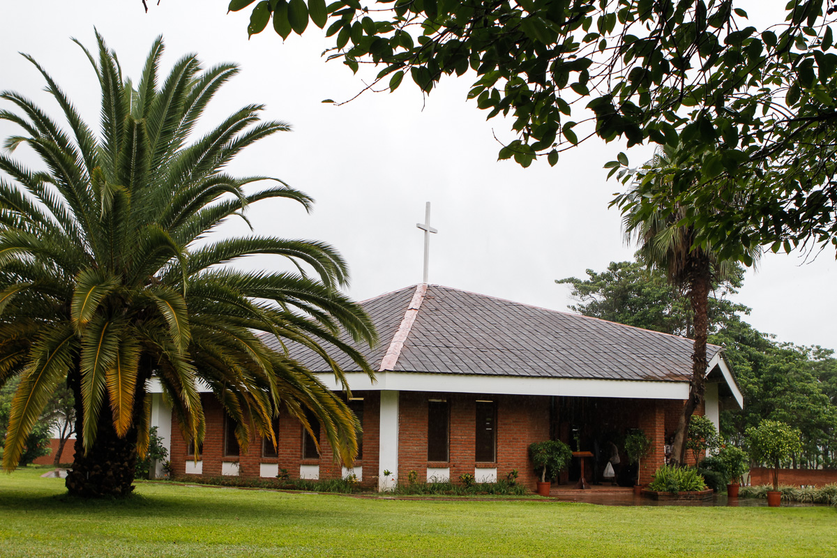 The Kirk of the Hills chapel at ABC, where the ceremony was held.